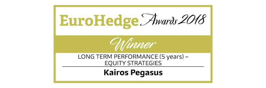 Logo di EuroHedge Awards 2018 Winner Kairos Pegasus