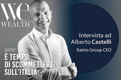 Copertina di We Wealth di settembre 2021 con intervista ad Alberto Castelli, CEO di Kairos