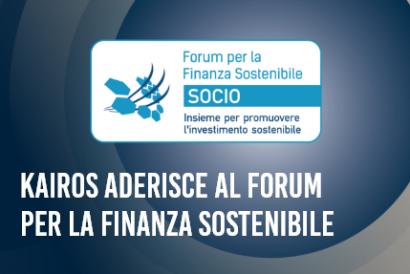 News Kairos aderisce al Forum per la Finanza Sostenibile